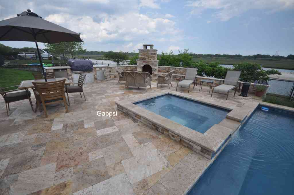 scabbos travertine veneers for outdoor fireplace islip ny gappsi
