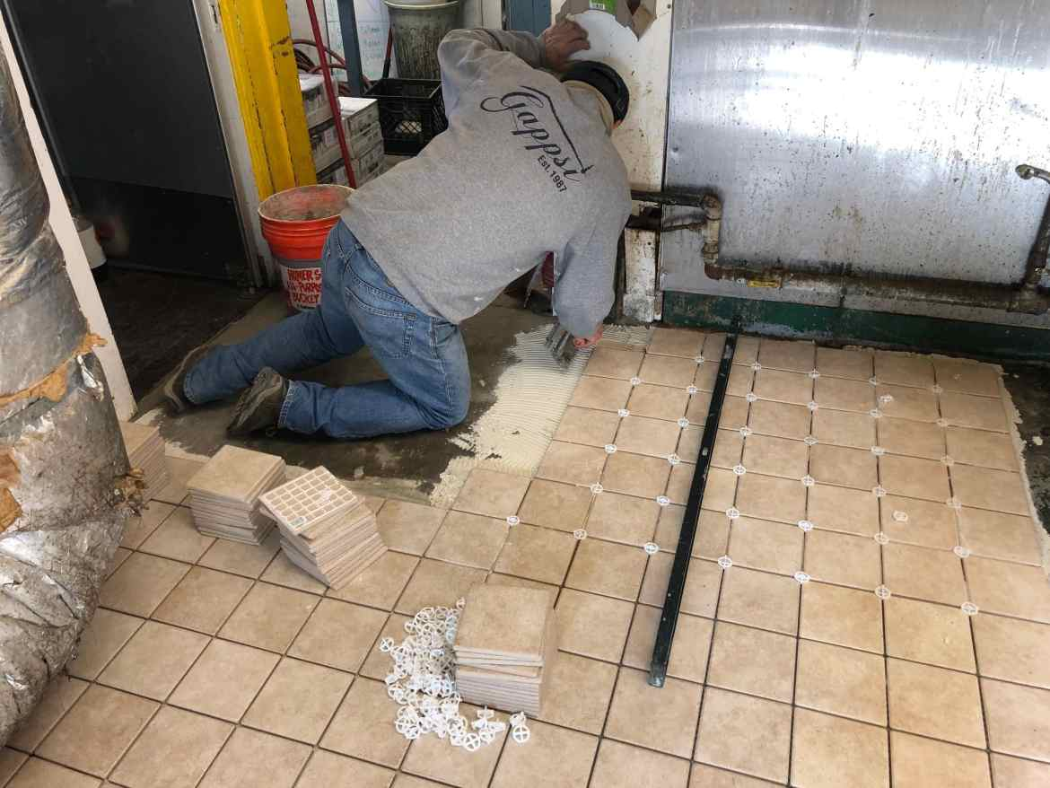 commercial kitchen floor installed in montauk ny by gappsi