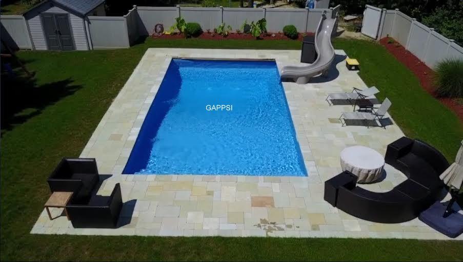 vinyl pool with concrete walls islip ny