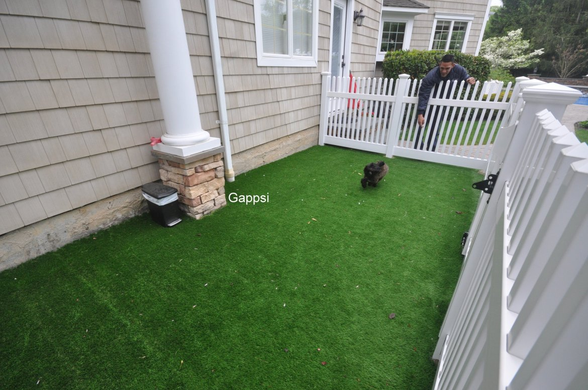 Dog Run With synthetic turf in Dix Hills NY Gappsi
