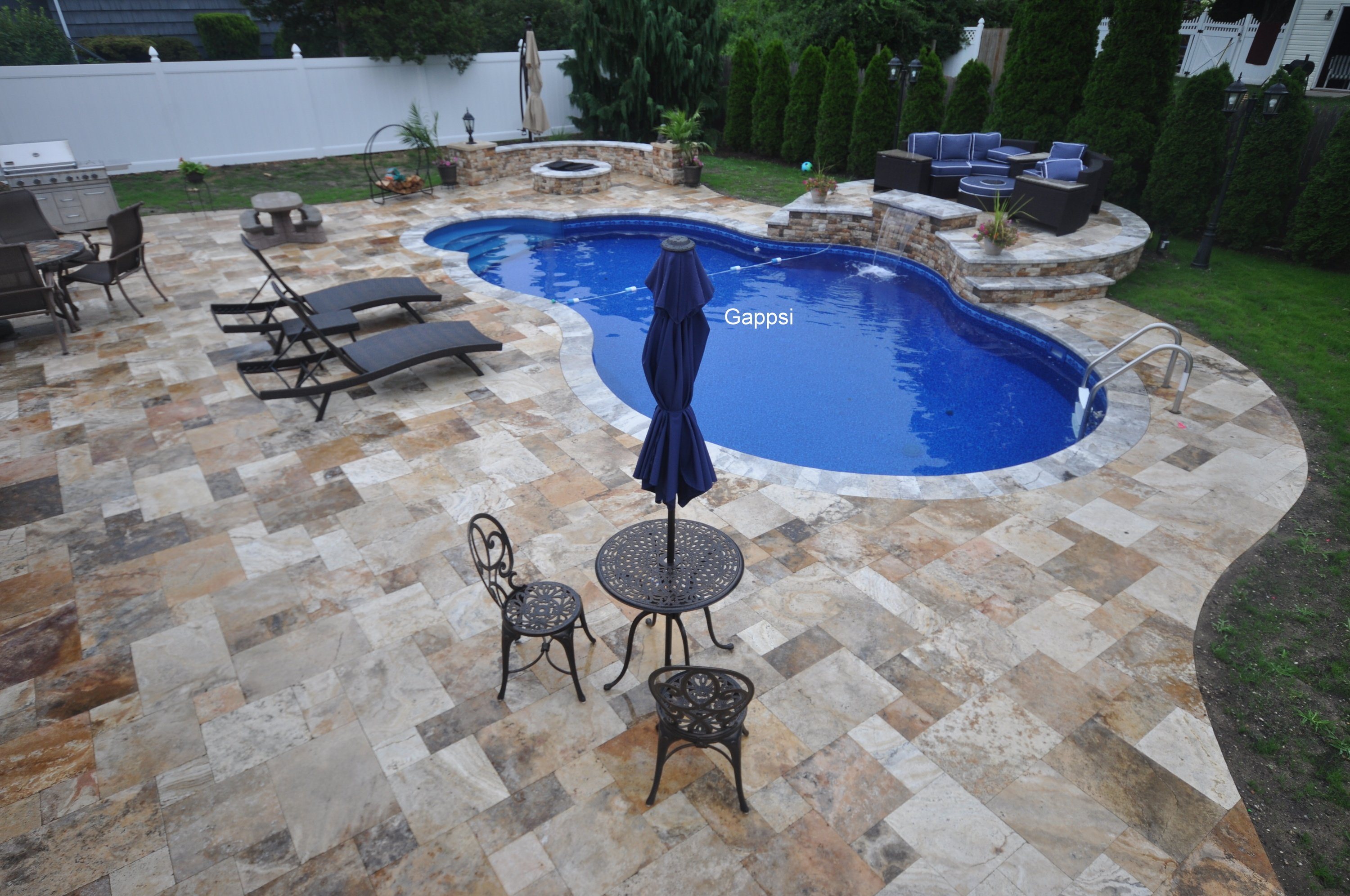 Backyard Designed And Installed By Gappsi Saint James Ny