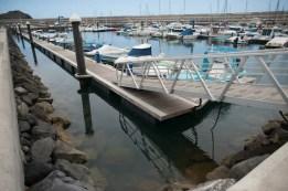 Las buenas condiciones de los atraques hacen que el puerto de Garachico se encuentre actualmente al máximo de su ocupación. / Foto: FRAN PALLERO