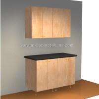 Easy 4 ft Garage Cabinet Plans - Close-up