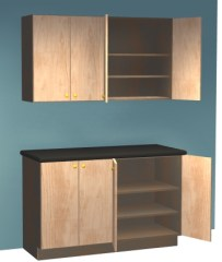 5 Pc Easy Garage Cabinet Plan - Open