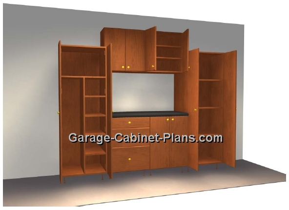 8 Ft Plywood Garage Cabinet Plans Garage Cabinet Plans