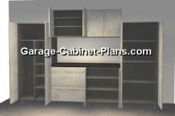 10 ft Garage Cabinet Plans Opened