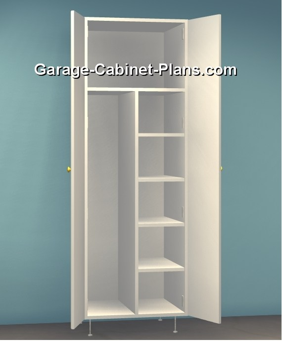 Utility Cabinet Plans 24 Inch Broom Closet Garage Cabinet Plans