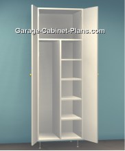 Utility Cabinet Plans - 24 Inch Broom Closet