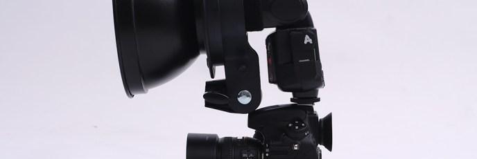 カメラ装着クリップオンストロボにリフレクター(S-型マウント)_04