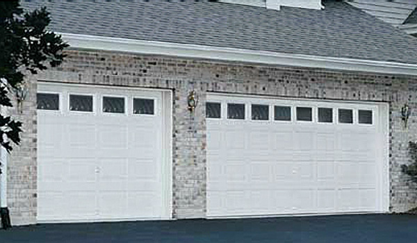 Steel Door - White Square Windows