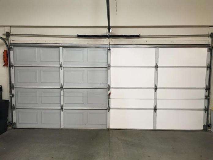 Garage Door Insulation Kit Before and After