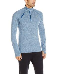 Blue Aasics Thermopolis long Sleeve on male model