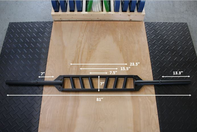 Edge Fitness Slim Football Bar Measurements