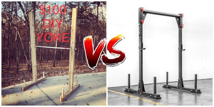 Diy yoke for garage gym lab