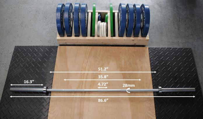 Fringe Sport Weightlifting Bar Measurements