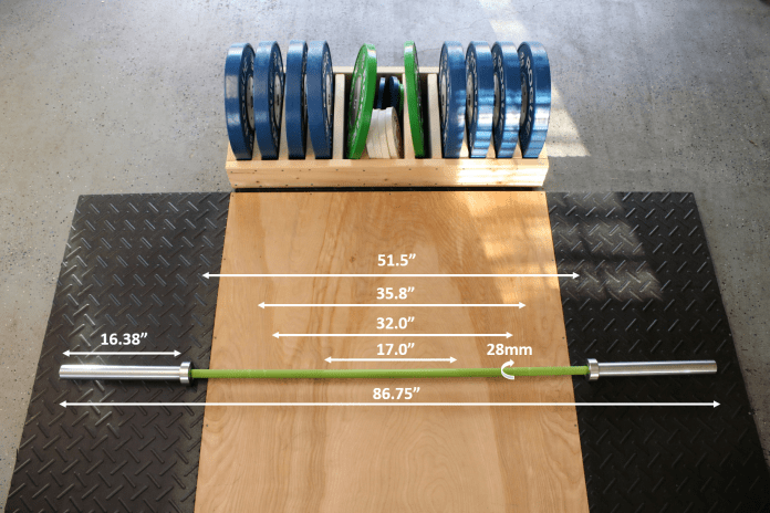 California Bar Measurements Garage Gym Lab