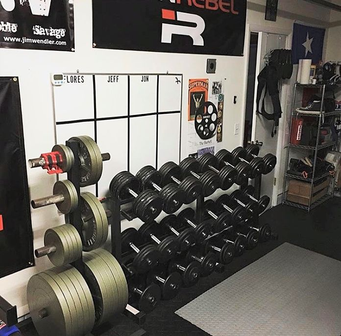 Rob's Barbell Dumbells Garage Gym
