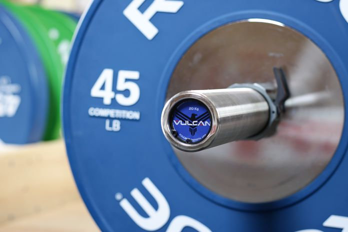 Vulcan Stainless Steel Power Bar End Cap 2 Garage Gym Lab