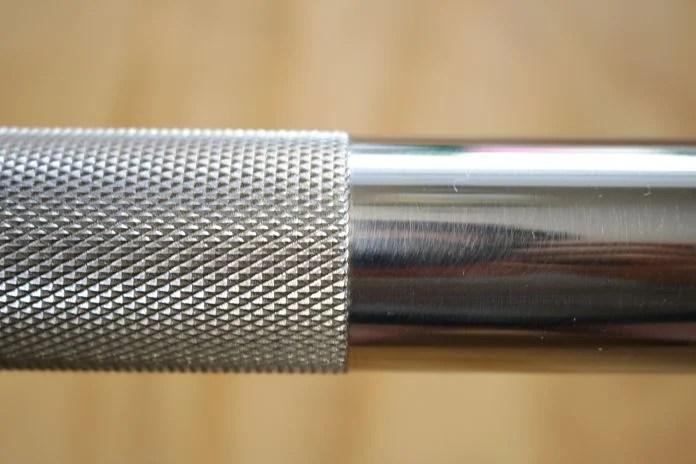 Vulcan Stainless Steel Power Bar Knurl Termination Garage Gym Lab
