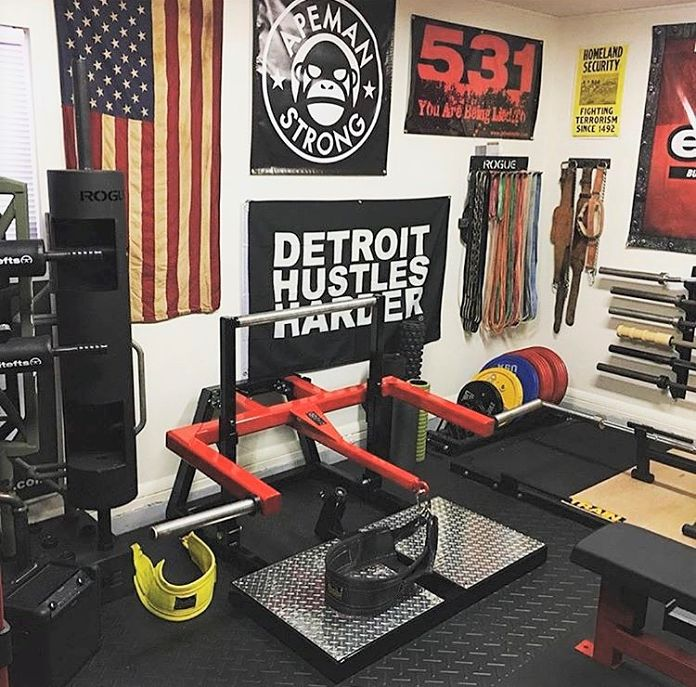 Step into this coast guardsman s amazing garage gym garage gym lab