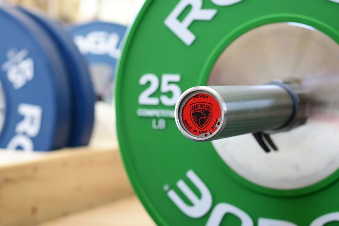 American Barbell Grizzly Power Bar End Cap 2 Garage Gym Lab