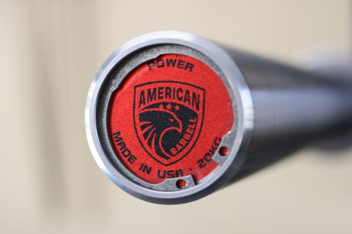 American Barbell Grizzly Power Bar End Cap Garage Gym Lab