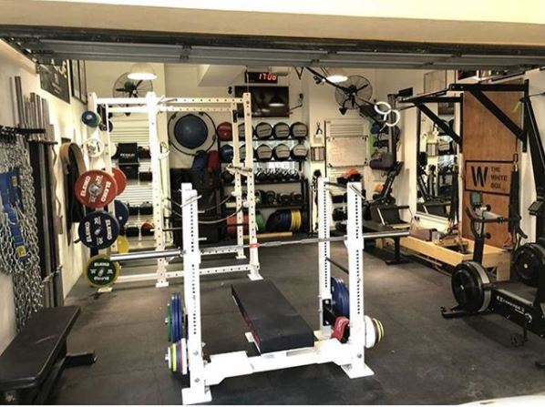 Aaron's White Box Powerlifting Garage Gym Lab