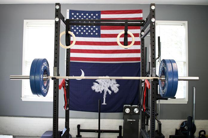 Beautiful rogue fitness garage gym vikupauto