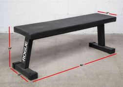 Rogue Fitness Flat Utility Bench Garage Gym Lab Rogue Home Gym