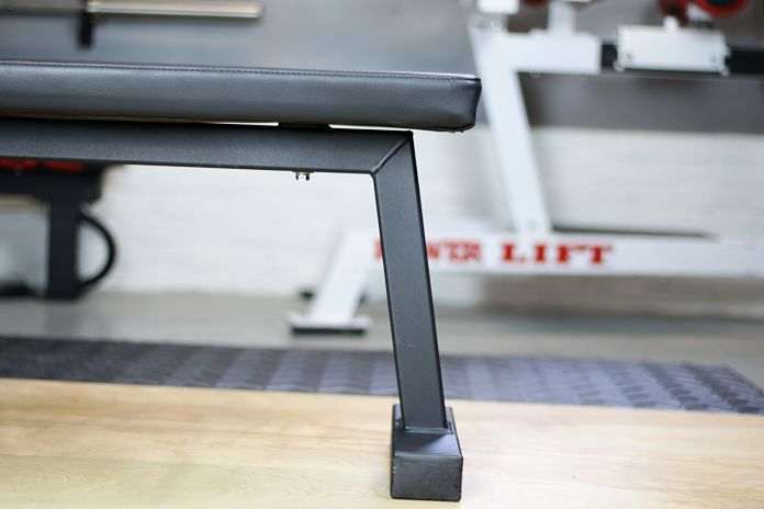Rogue Flat Bench Angled Legs Garage Gym Lab
