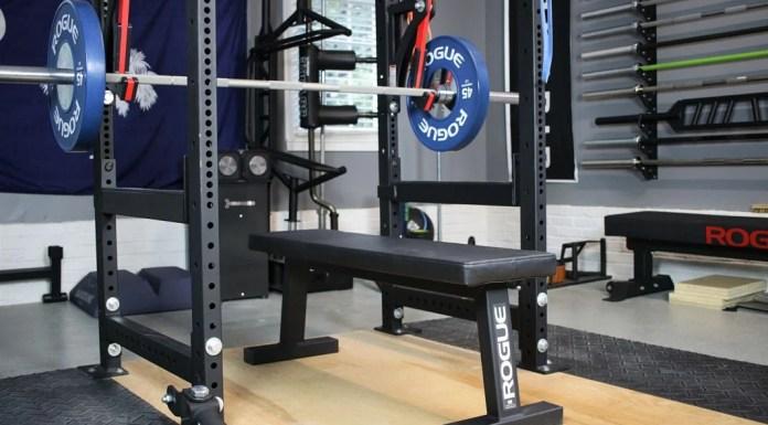 Rogue Flat Bench Cover Photo Garage Gym Lab