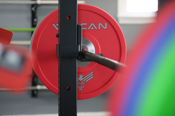 Vulcan Bumper Plates Urethane Loaded 3 - Garage Gym Lab