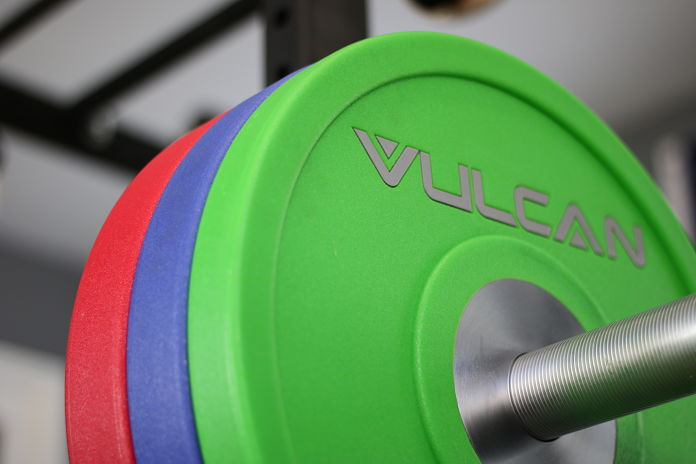 Vulcan Bumper Plates Urethane Loaded 4 - Garage Gym Lab