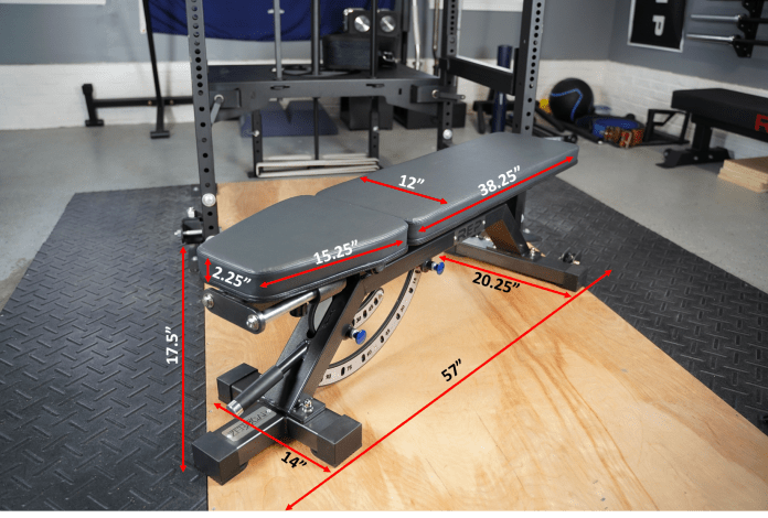 Rep Fitness AB-5000 Rep Adjustable Bench - Measurements - Garage Gym Lab