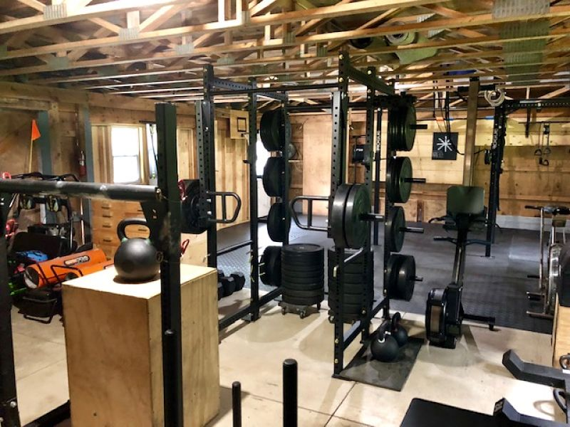 Step into brian s amazing crossfit barn gym garage gym lab