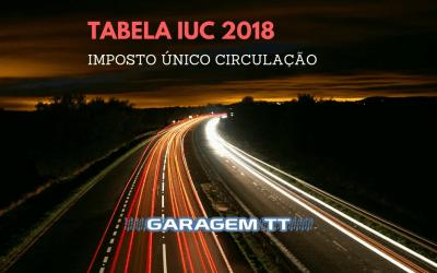 Tabela IUC 2018