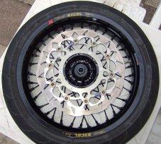 Yamaha WR250R Supermoto Radsatz: Vorderrad, Spiegler Peak Scheibe