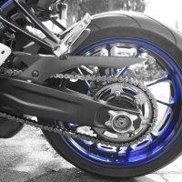 Yamaha MT-07 Kette, Schleifschutz, Wartung
