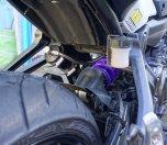 Yamaha MT-07 mit Hyperpro Streetbox: Dämpfer und Ausgleichsgefäß