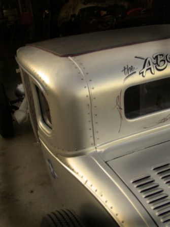 """Pat wanted an aircraft military look to this car. Over 250 """"Fake"""" rivets airbrushed on."""