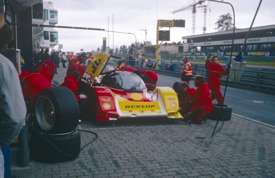 Der Porsche 962 C bei dem ADAC Würth Supercup auf dem Nürburgring 1988. ©Porsche AG