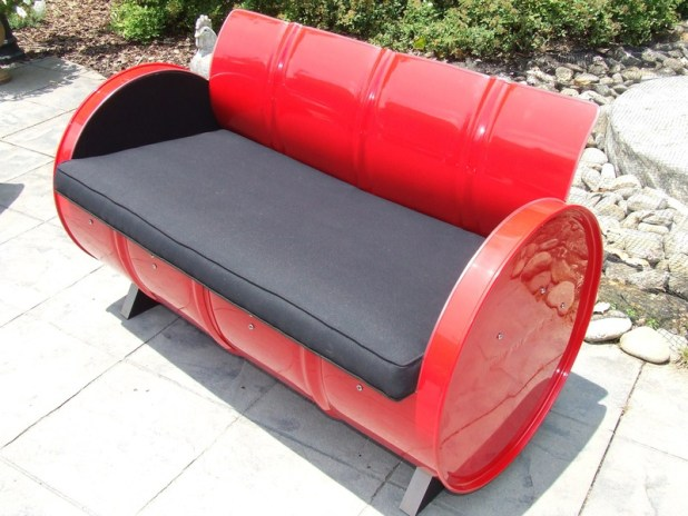 Repurposed 55 Gallon Drums As Furniture Is Very Cool