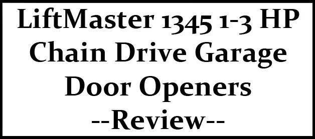 Chamberlain Liftmaster Garage Door Opener 1 3 Hp Dandk