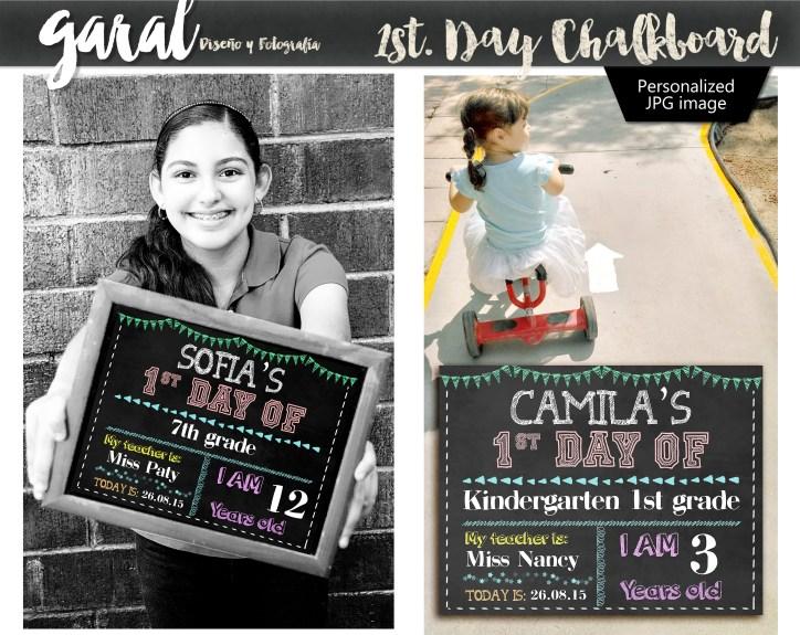 1st day chalkboard
