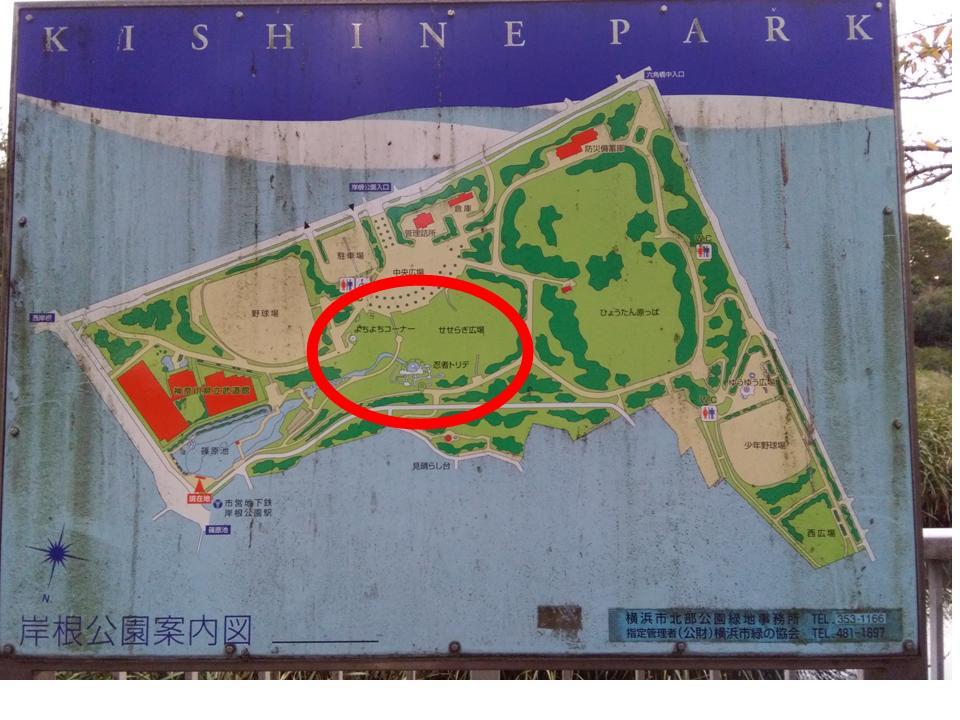 岸根公園案内図