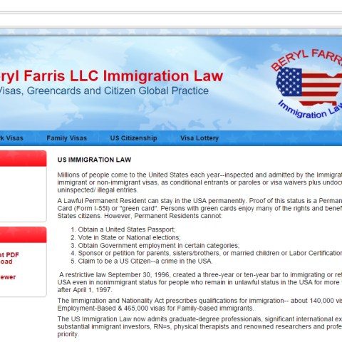 Beryl Farris LLC Immigration Law