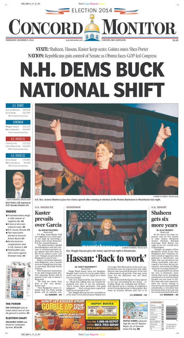 Blog: When the color red prevailed on those US front pages ...