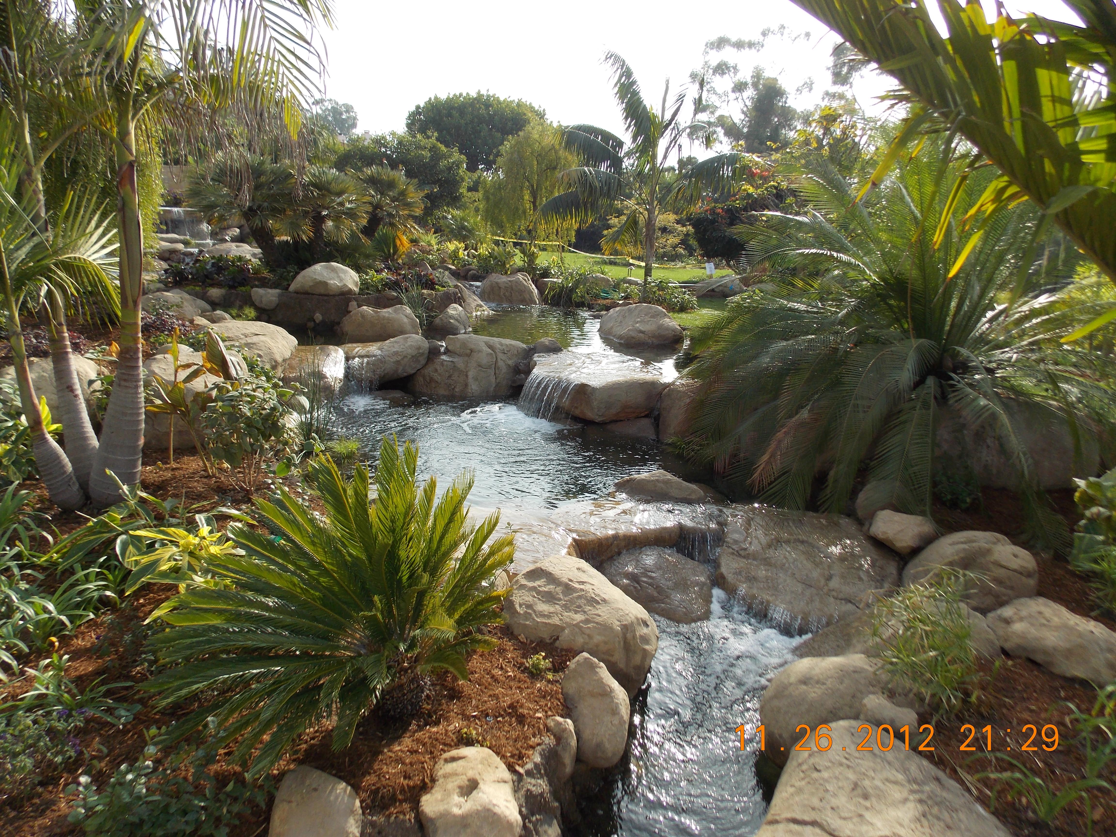 Tropical Koi Pond   Garcia Rock And Water Design Blog on Tropical Backyard  id=95107