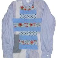 COMME des GARCONS SHIRT 29000円 パッチワークストライプシャツ