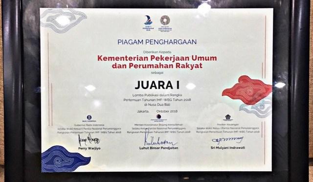 Kemen PUPR Raih Dua Penghargaan Anugerah Media Humas 2018